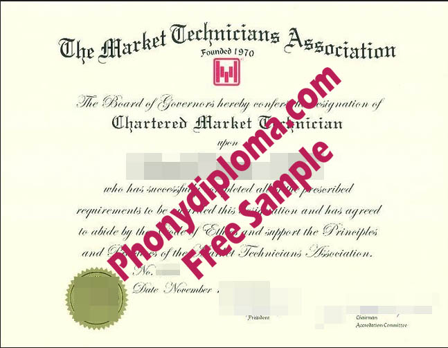 The Market Technicians Association Free Sample From Phonydiploma