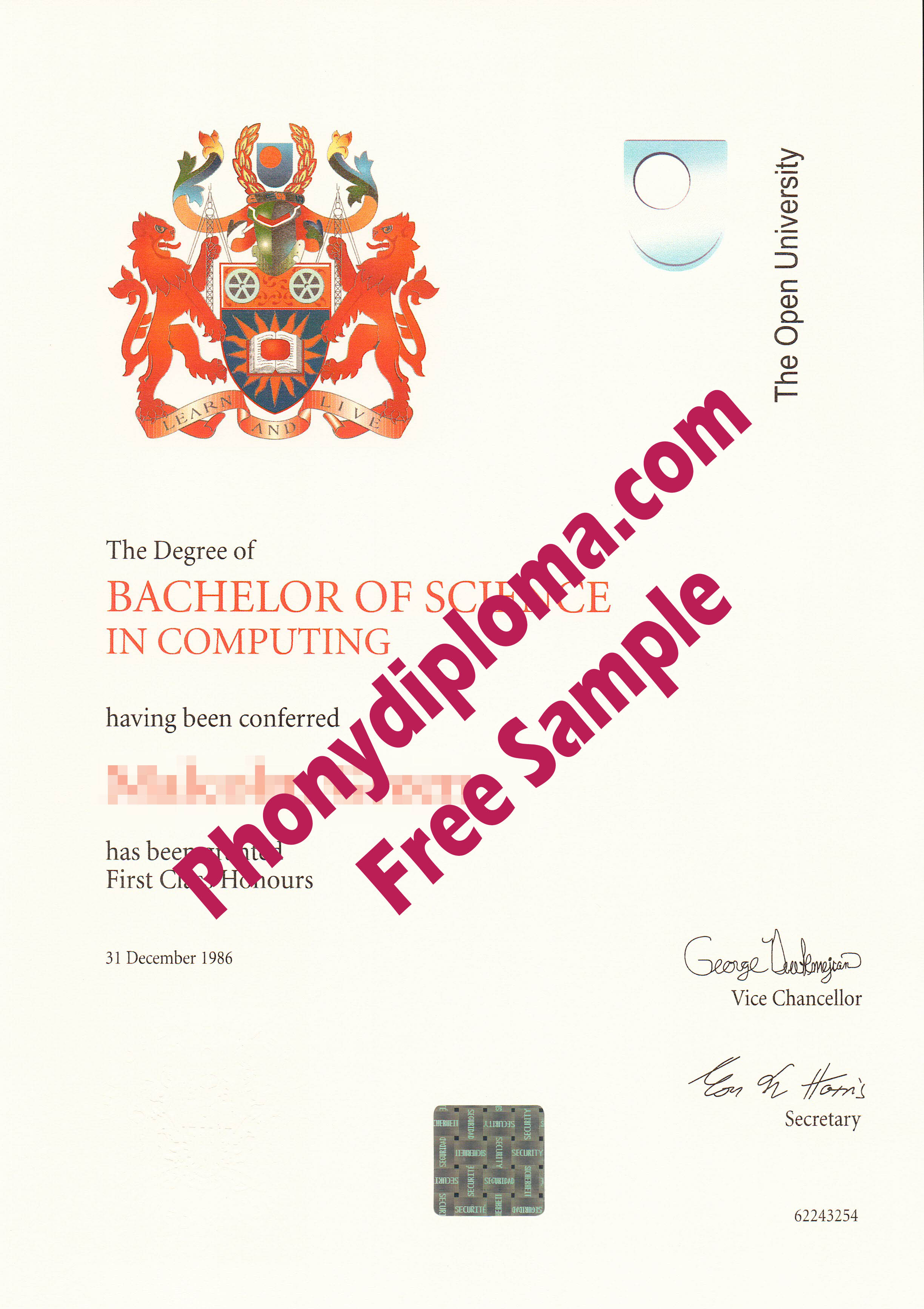 The Open University Free Sample From Phonydiploma