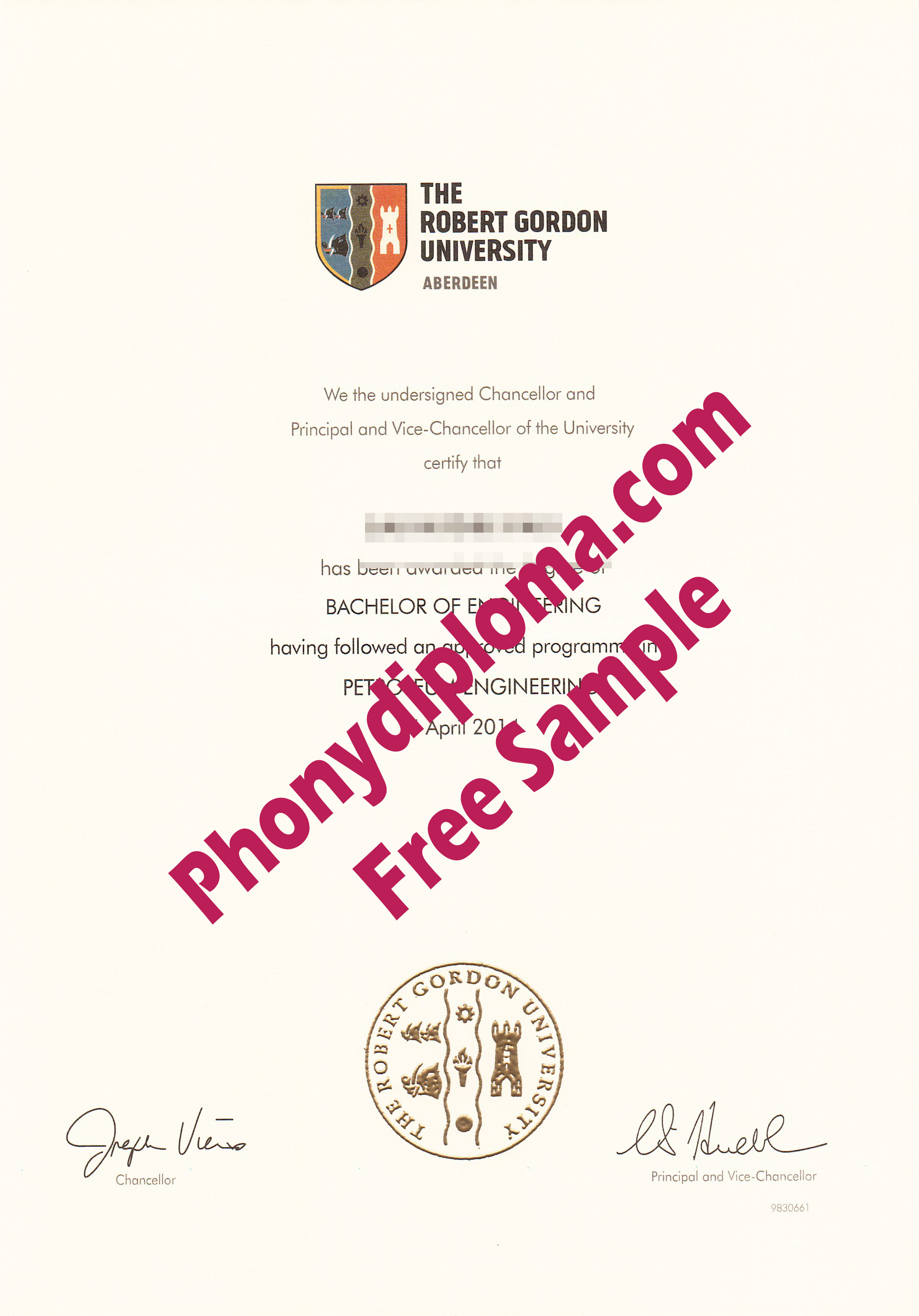 The Robert Gordon University Aberdeen Free Sample From Phonydiploma