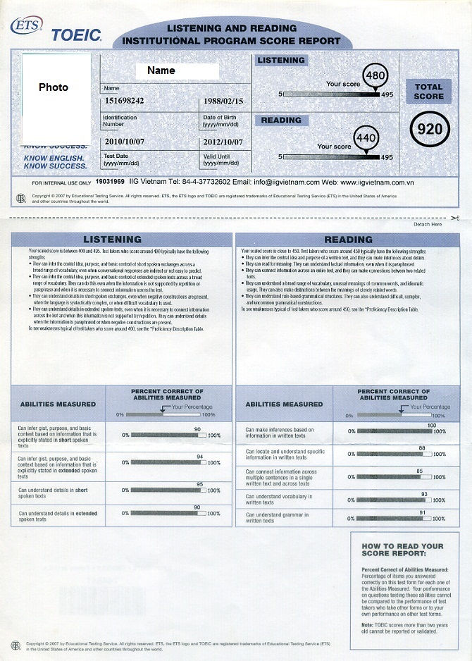 Toeic Actual Match Transcripts Free Sample From Phonydiploma