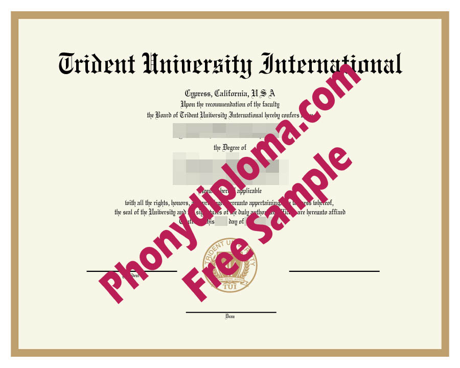 Trident University Free Sample From Phonydiploma