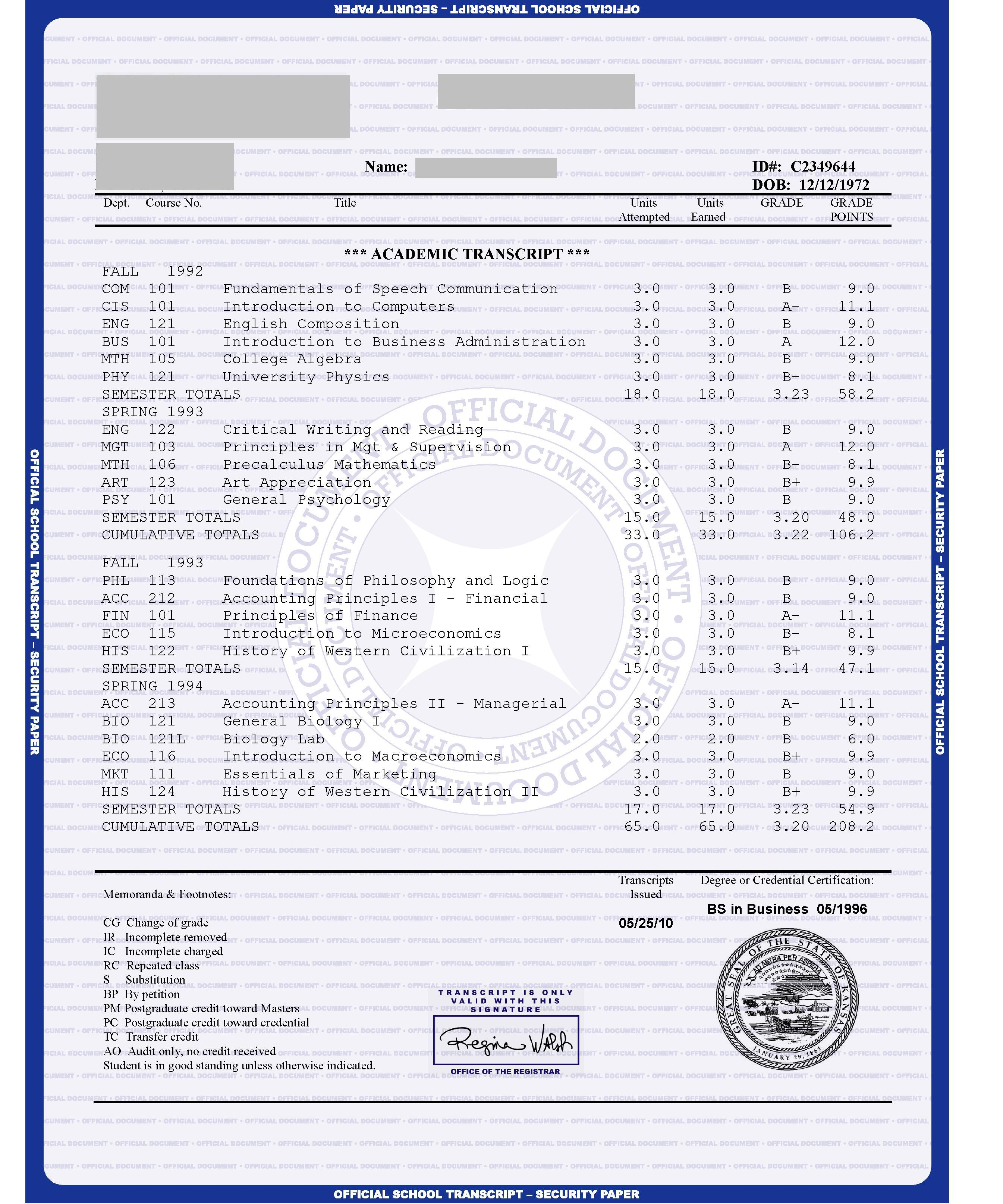 Us College House Design Transcript Blue Paper Free Sample From Phonydiploma