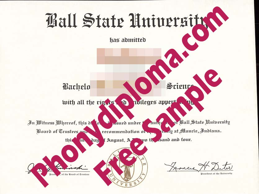 Ball State University Free Sample From Phonydiploma