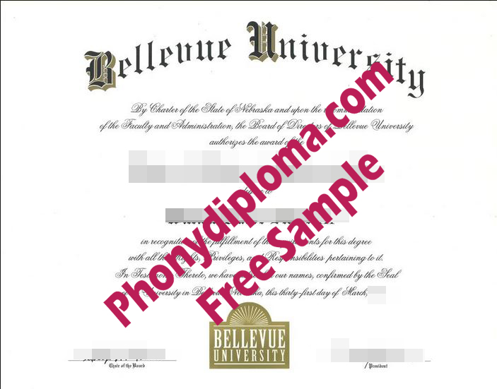 Bellevue University Nebraska Diploma Free Sample From Phonydiploma