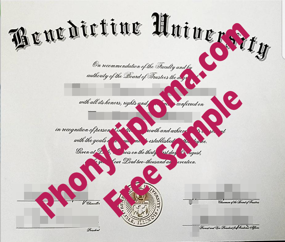 Benedictine University Illinois Free Sample From Phonydiploma