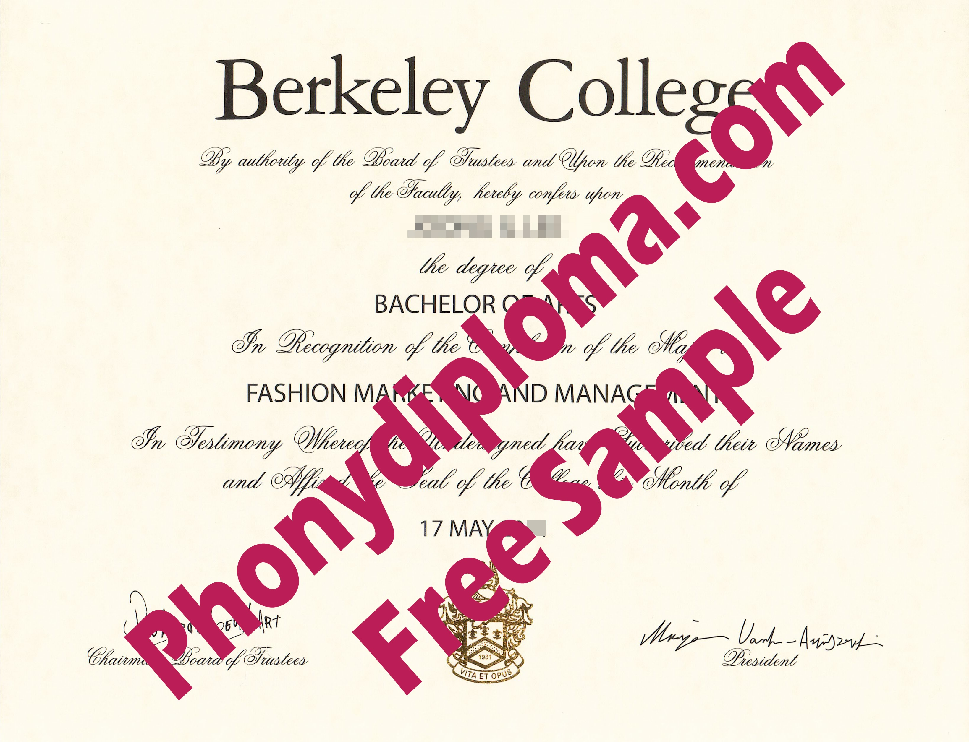 Berkeley College Free Sample From Phonydiploma