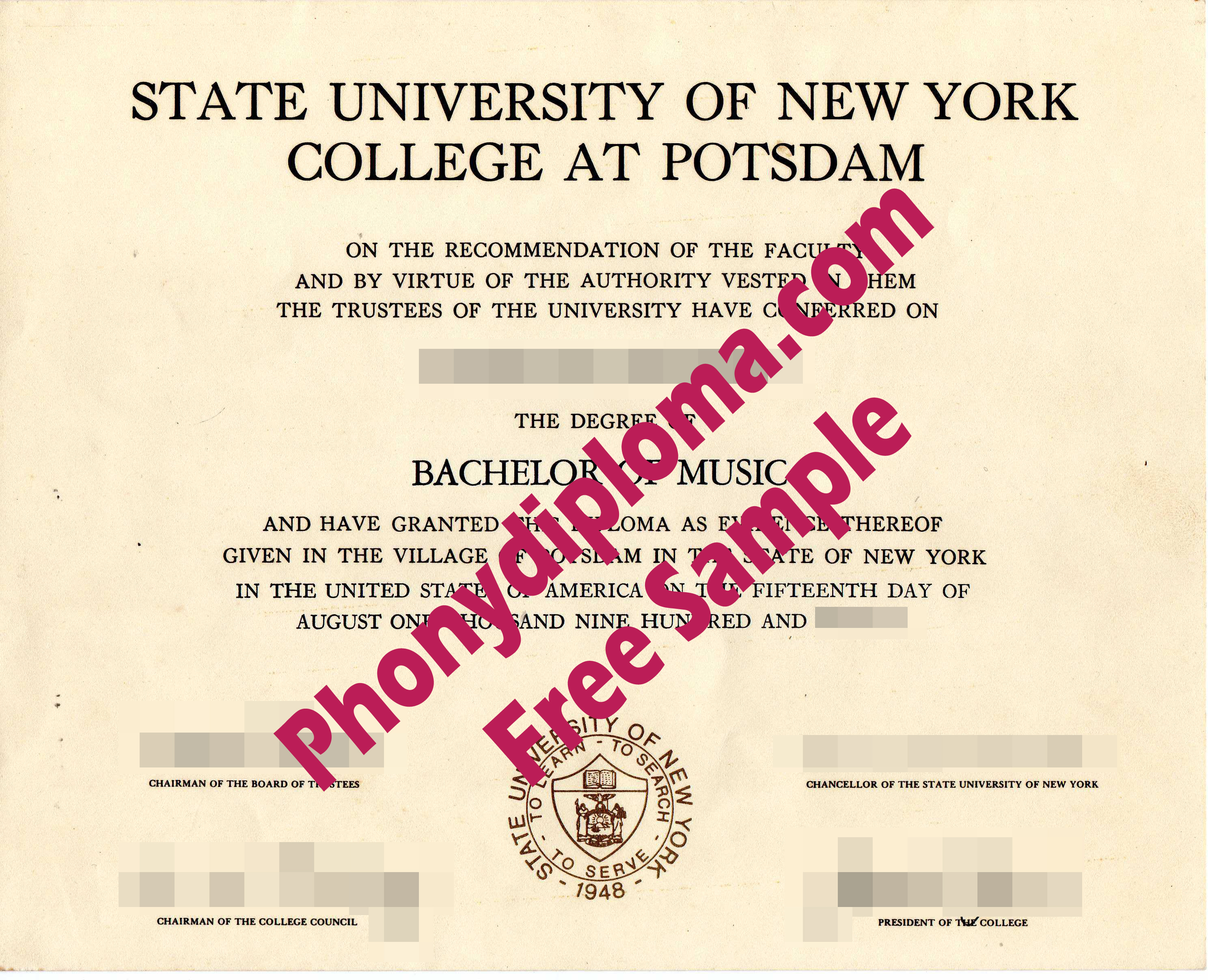 Buy Suny Phonydiploma