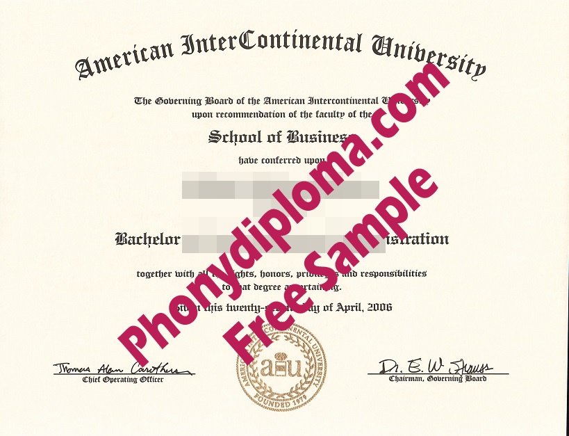 C&D 2018 American Intercontinental University Free Sample From Phonydiploma