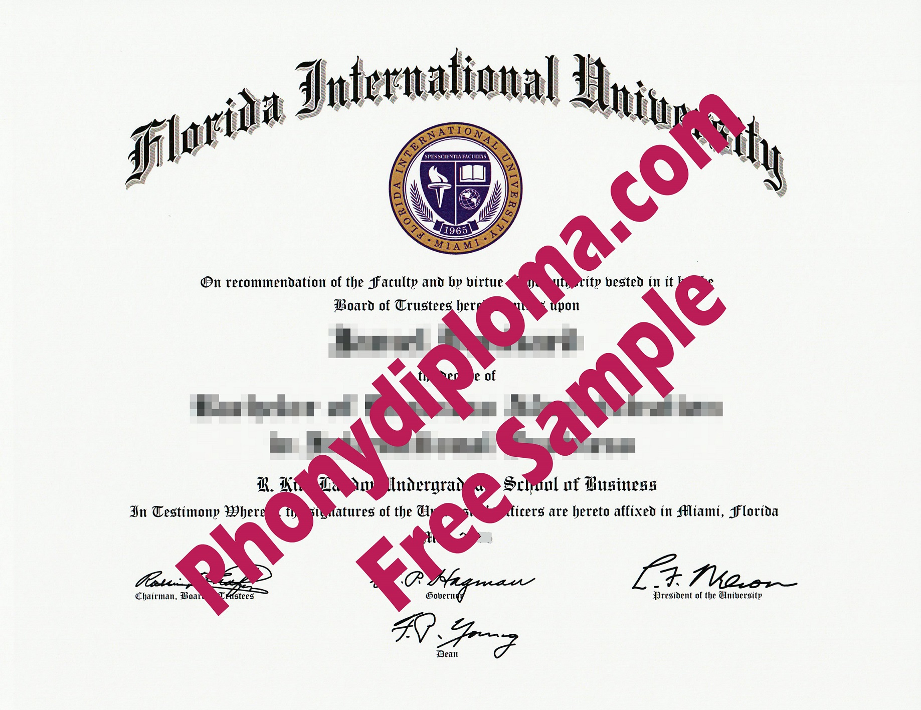 Clc Florida International University Fl Fiu Free Sample From Phonydiploma