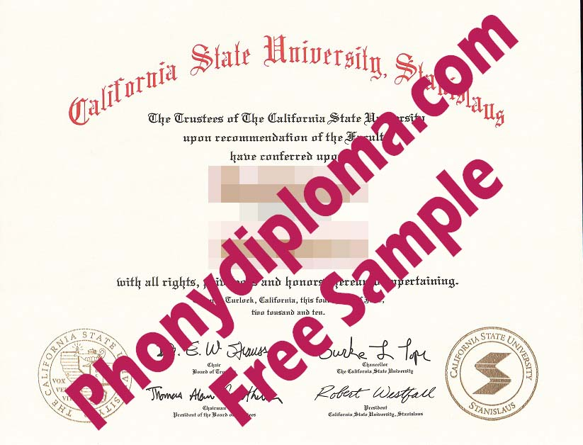 Cal State University Stanislaus Free Sample From Phonydiploma