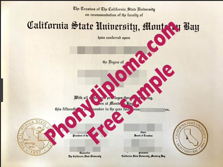 California State University Monterey Bay Free Sample From Phonydiploma