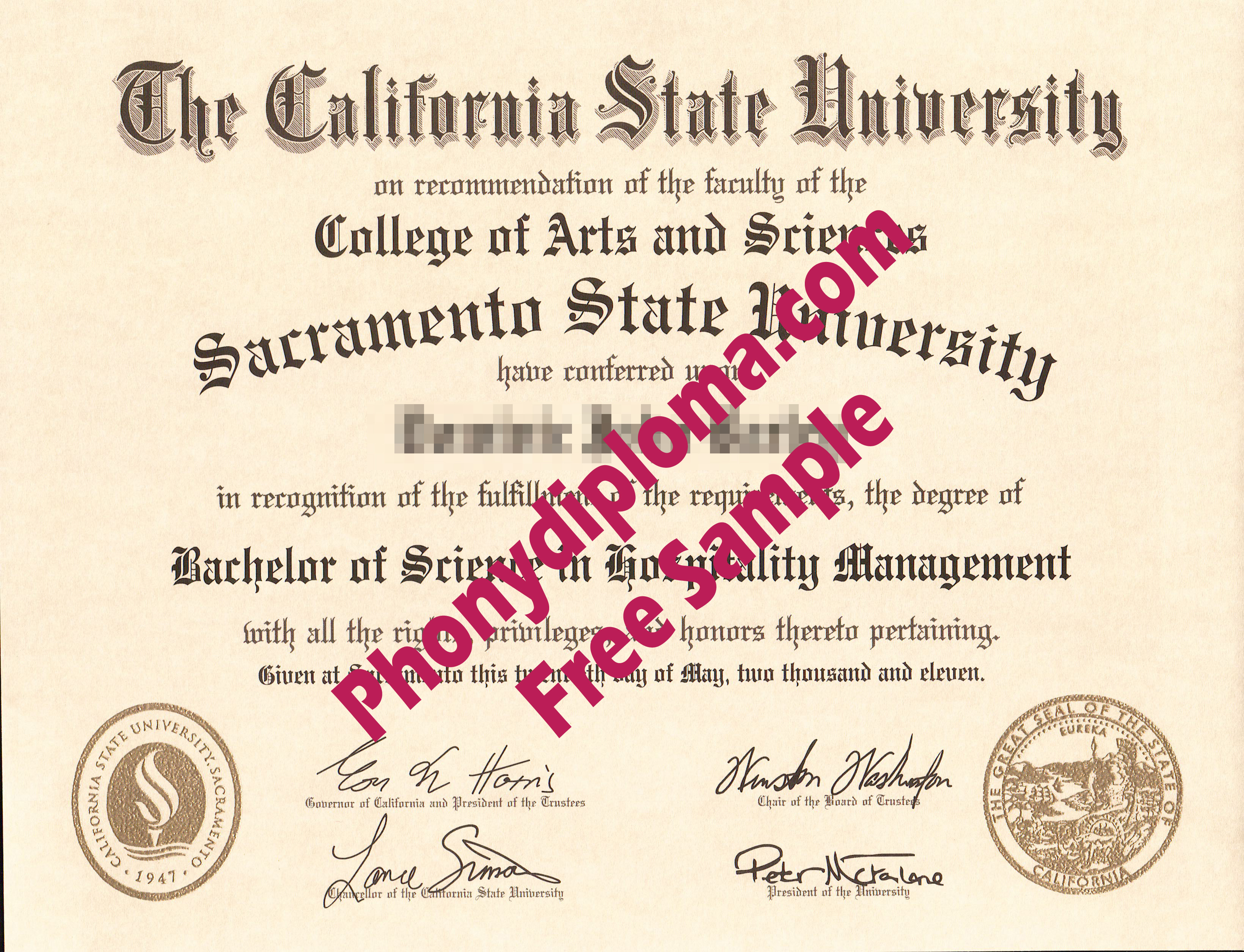 California State University Sacramento State University Free Sample From Phonydiploma