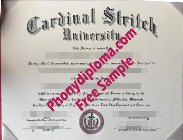 Cardinal Stritch University Wisconsin Free Sample From Phonydiploma