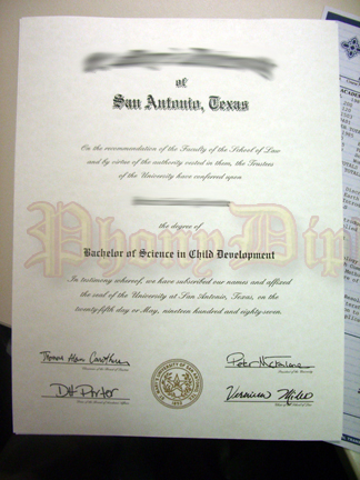 Fake Diploma Sample 7