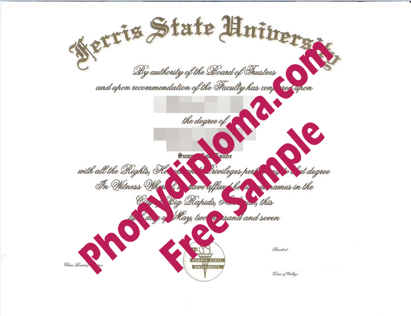 Ferris State University Free Sample From Phonydiploma