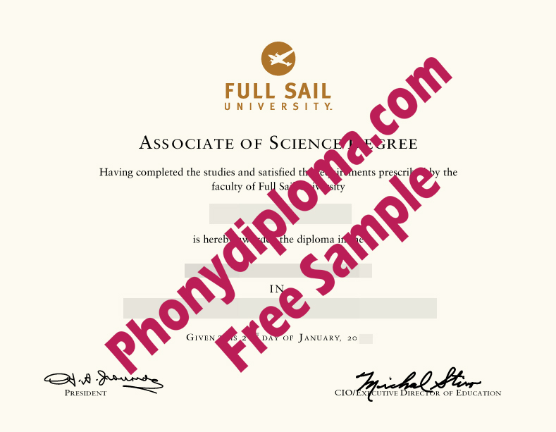 Full Sail University Free Sample From Phonydiploma