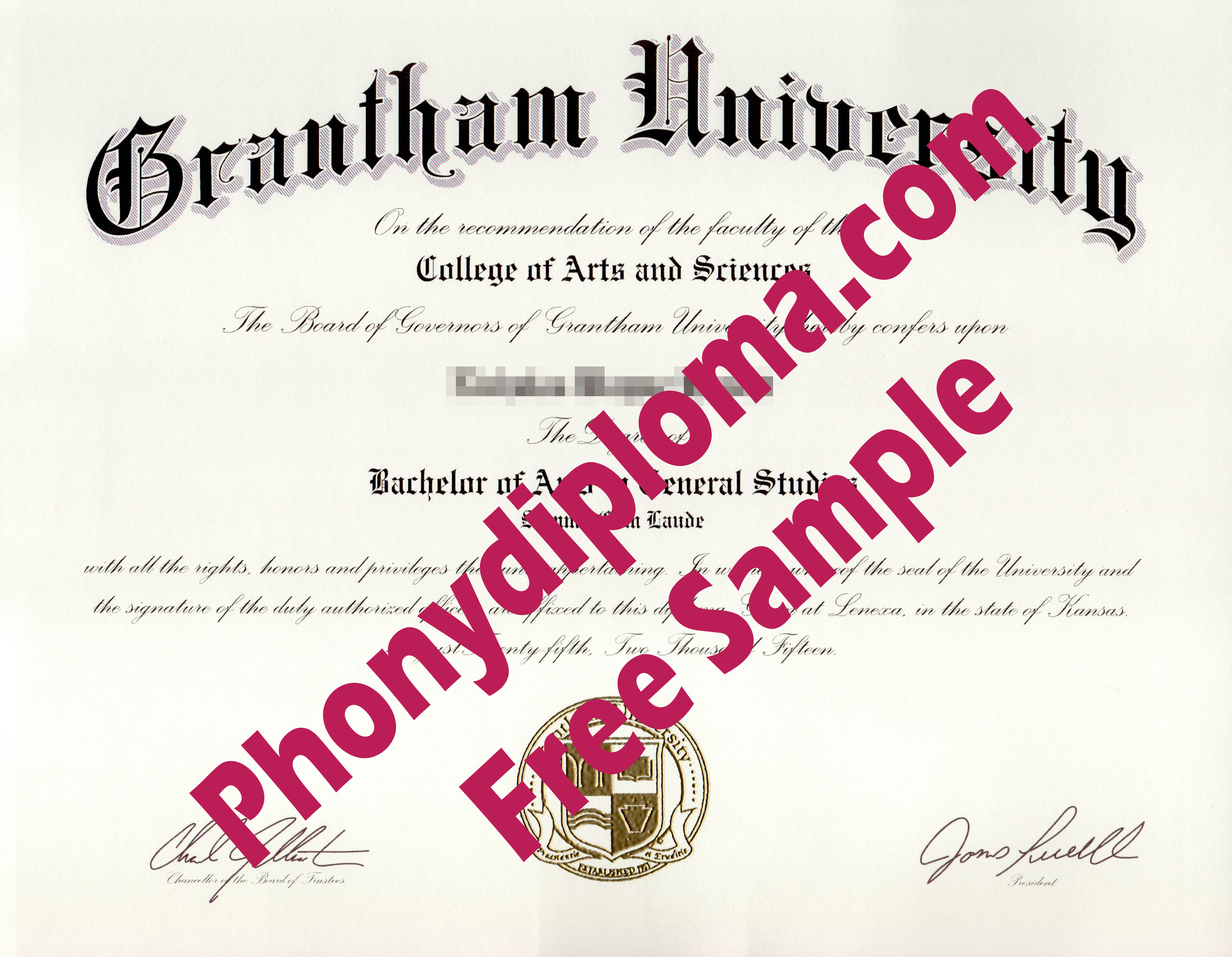 Grantham University Free Sample From Phonydiploma
