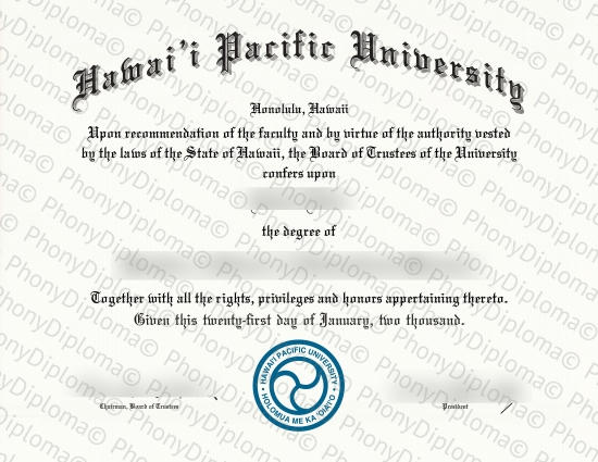 Hawaii Pacific University Free Sample From Phonydiploma