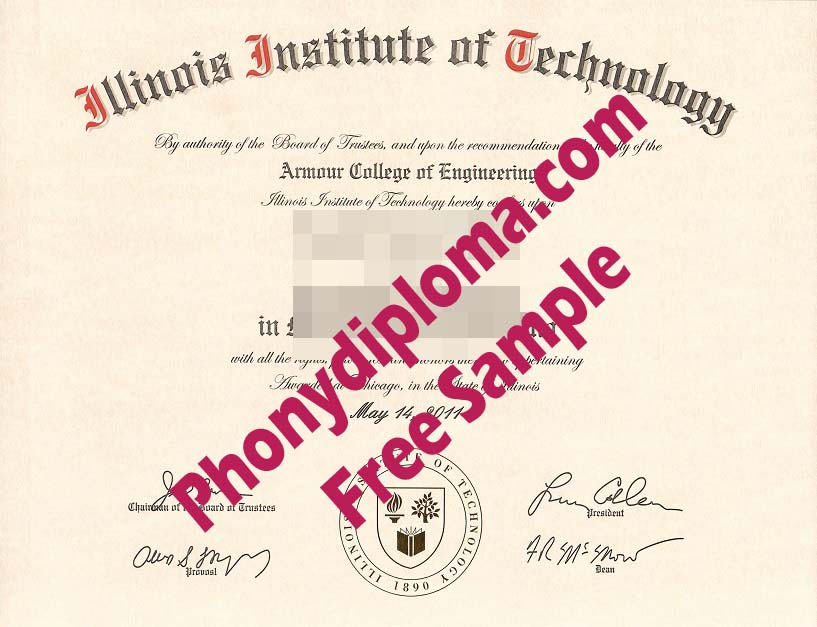 Illinois Institute Of Technology Free Sample From Phonydiploma
