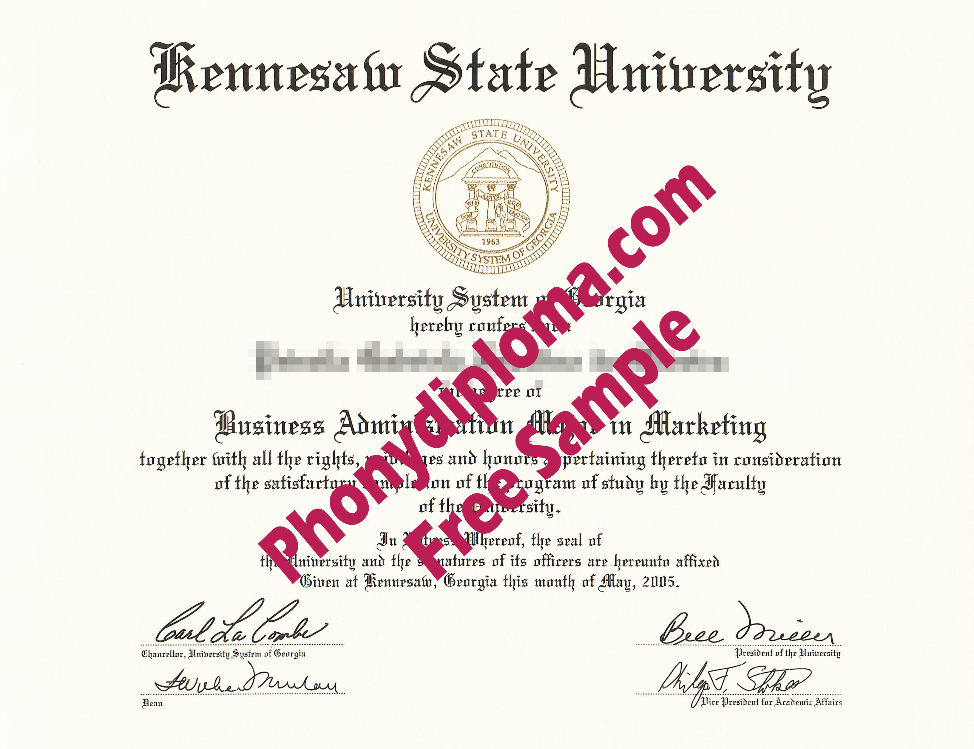Kennesaw State University Free Sample From Phonydiploma
