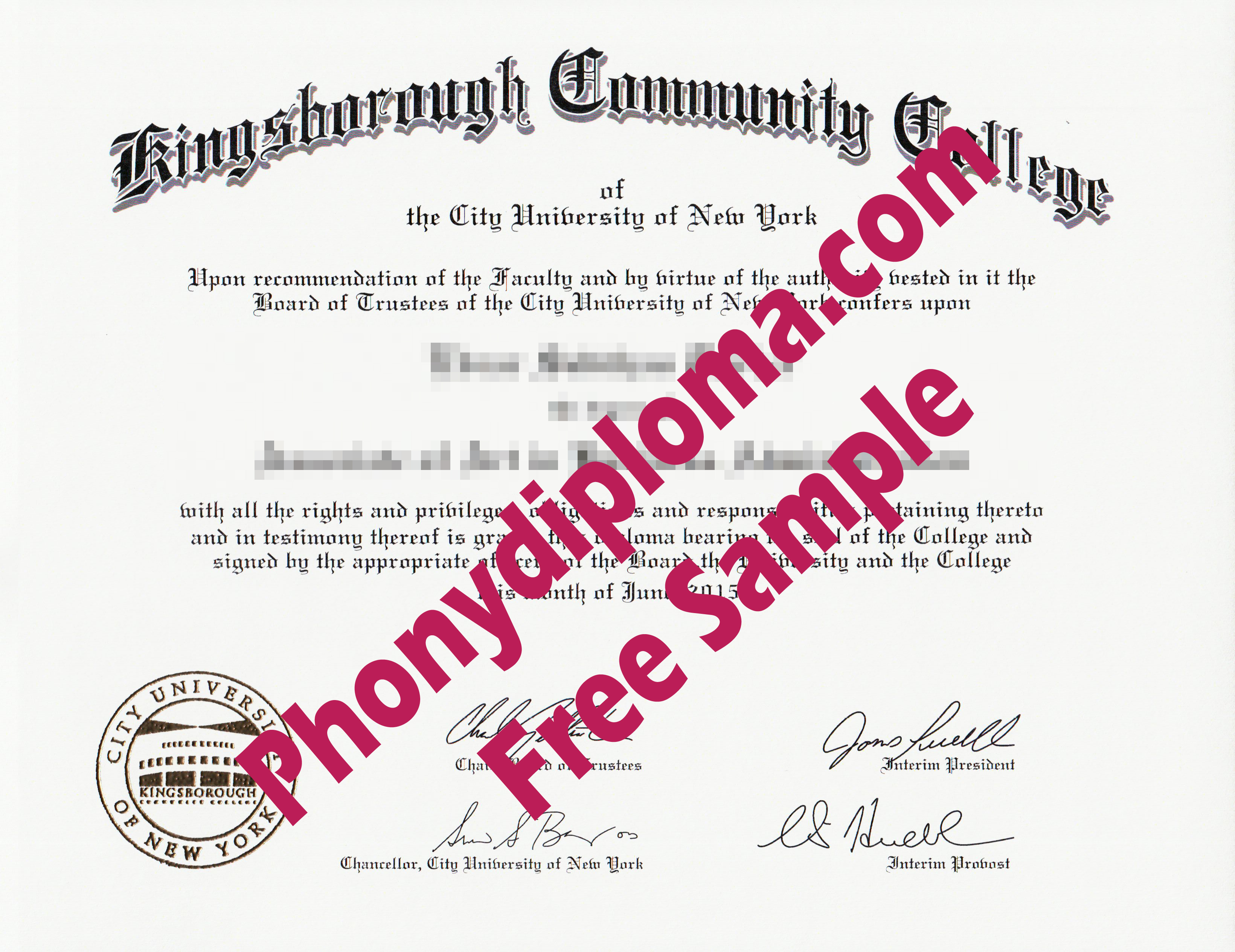 Kingsborough Community College Free Sample From Phonydiploma