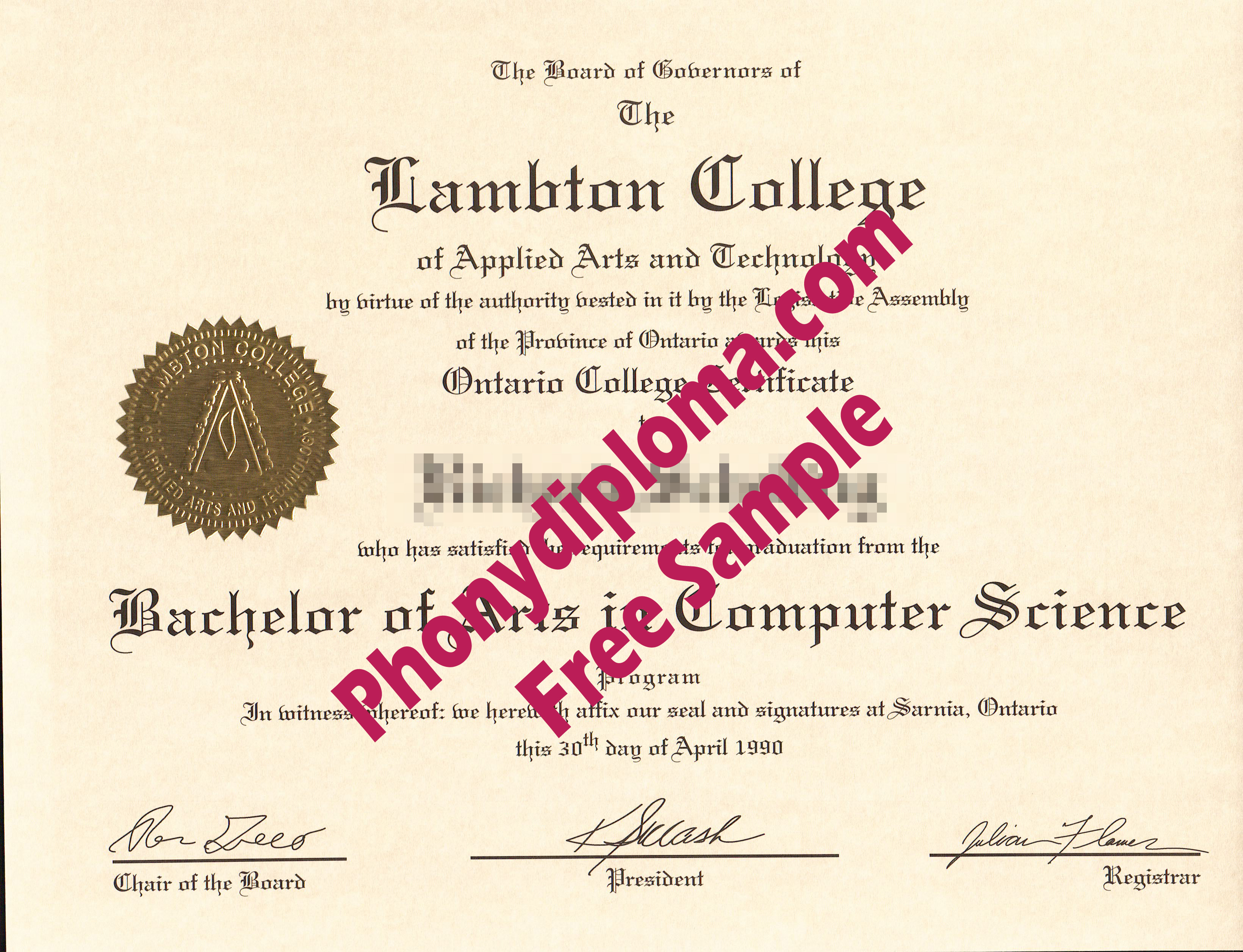 Lambton College Ontario Canada Free Sample From Phonydiploma