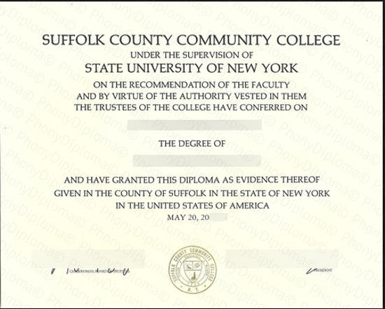 Suffolk County Community College Free Sample From Phonydiploma