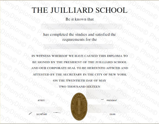 The Juilliard School Free Sample From Phonydiploma
