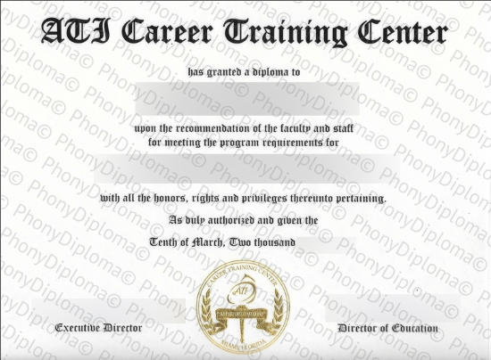 Usa Ati Career Training Center Free Sample From Phonydiploma