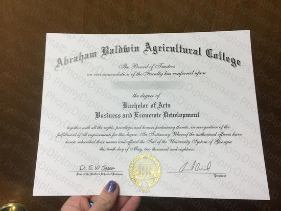 Usa Abraham Baldwin Agricultural College Photo Free Sample From Phonydiploma