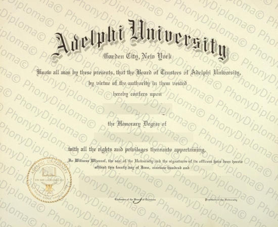 Usa Adephi University Free Sample From Phonydiploma