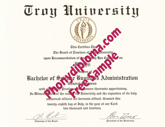 Usa Alabama Troy University Free Sample From Phonydiploma