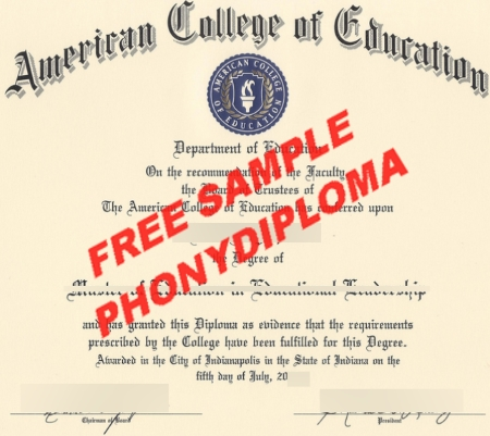 Usa American College Of Education Indiana Free Sample From Phonydiploma