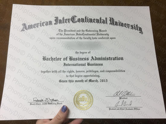 Usa American Intercontinental University Photo Free Sample From Phonydiploma