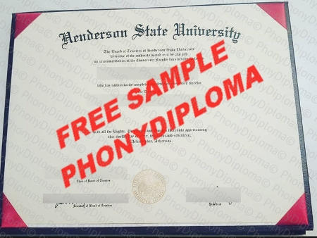 Usa Arkansas Henderson State University Free Fake Diploma Sample