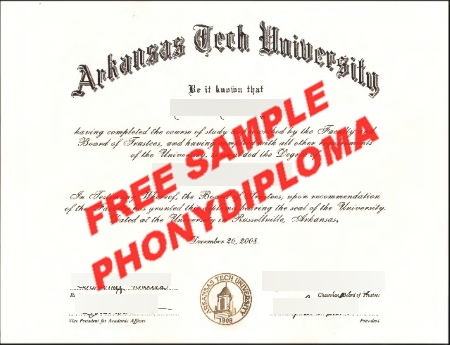 Usa Arkansas Tech University Free Sample From Phonydiploma