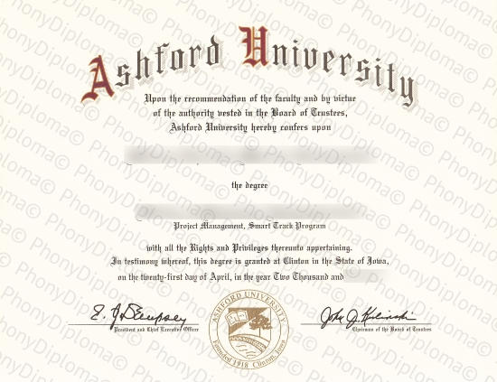 Usa Ashford University Free Sample From Phonydiploma