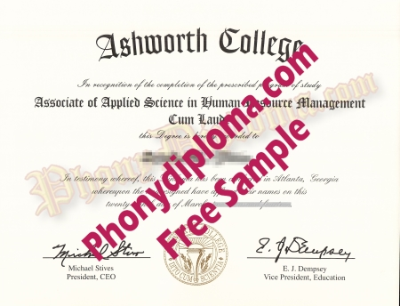 Usa Ashworth College Free Sample From Phonydiploma