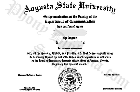 Usa Augusta State University Free Sample From Phonydiploma
