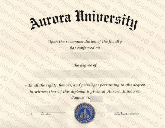 Usa Aurora University Free Sample From Phonydiploma