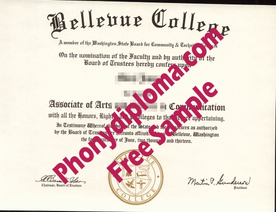 Usa Bellevue College Free Sample From Phonydiploma