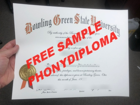 Usa Bowling Green State University Free Sample From Phonydiploma