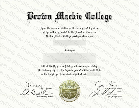 Usa Brown Mackie College Free Sample From Phonydiploma