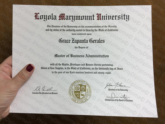 Usa California Loyola Marymount University Fake Diploma From Phonydiploma
