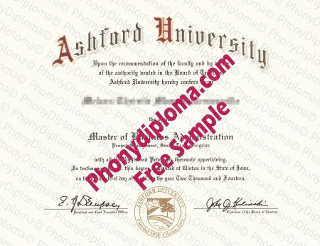 Usa Caifornia Ashford University Free Sample From Phonydiploma