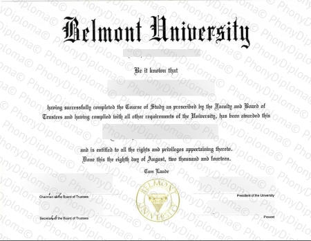 Usa California Belmont University Free Sample From Phonydiploma (1)