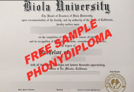 Usa California Biola University Free Sample From Phonydiploma