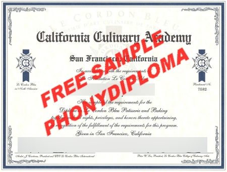 Usa California Culinary Academy Free Sample From Phonydiploma