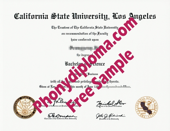 Usa California State University Los Angeles Free Sample From Phonydiploma