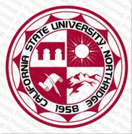 Usa California State University Northridge Color Emblem Free Sample From Phonydiploma